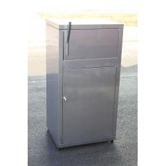 Урна (мусорка, бак) для общепита фудкорта из нержавеющей стали