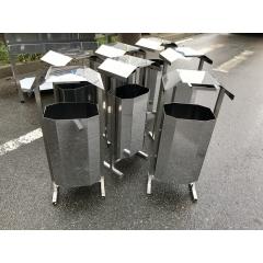 Урна уличная из нержавеющей стали 30-32 литров